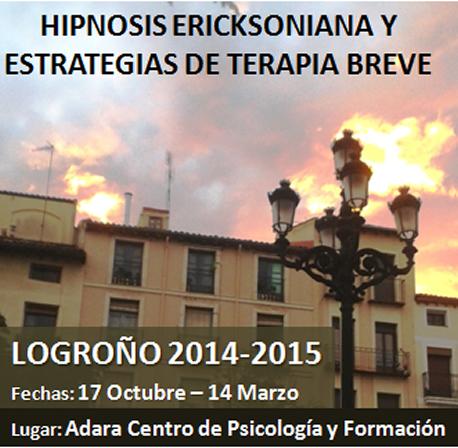Formación Hipnosis Ericksoniana y Estrategias de Terapia Breve en Logroño