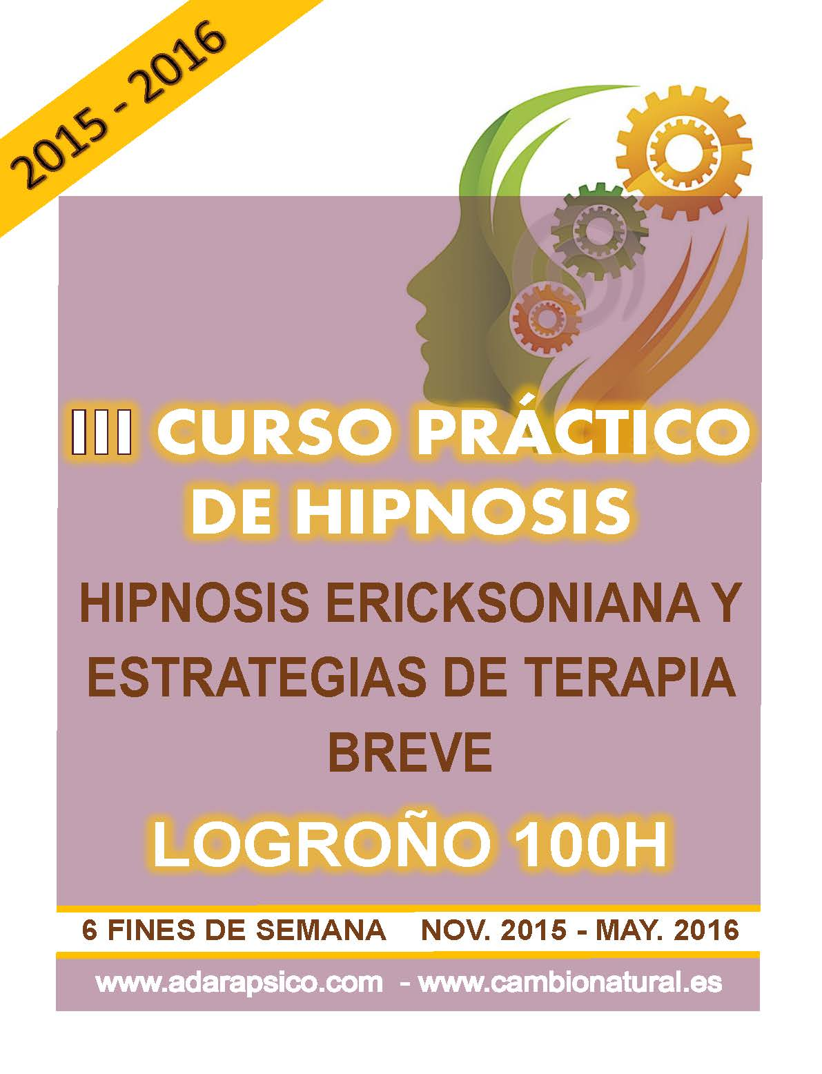 III Curso práctico de hipnosis en Logroño 2015-16