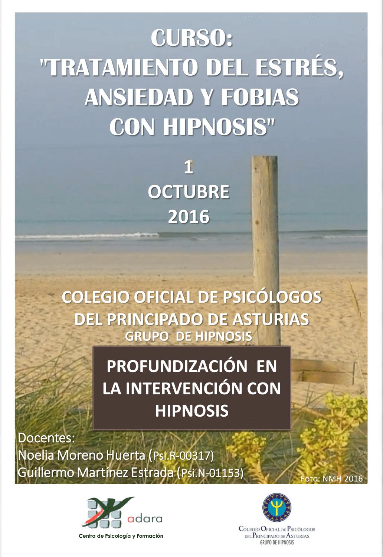 """Curso: """"Tratamiento del Estrés, Ansiedad y Fobias con Hipnosis"""""""