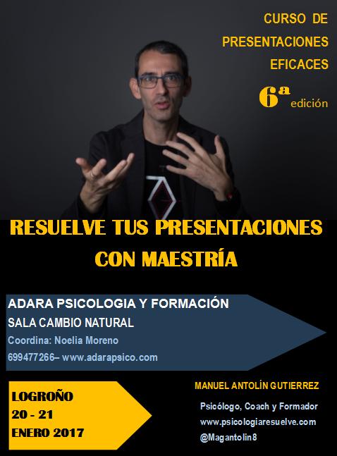 CURSO DE PRESENTACIONES  EFICACES  Logroño  20-21 enero 2017