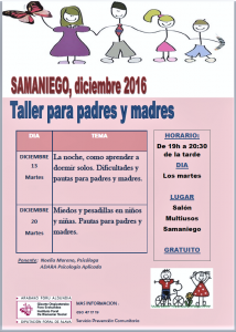 Escuelas de Padres y Madres. Samaniego 2016-17